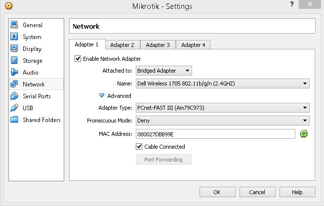 Mikrotik under VirtualBox in GNS3   Nbctcp's Weblog