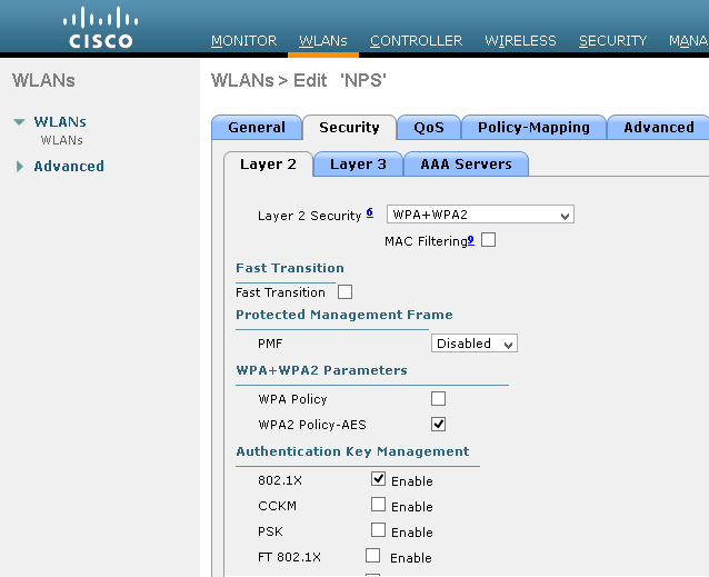 Microsoft Windows 2012R2 CA and NPS Installation for Cisco
