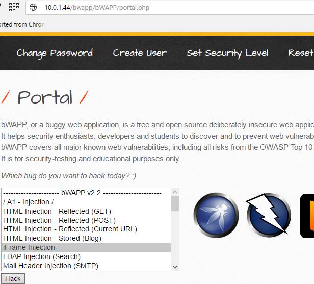 Installing Vulnerable bWAPP, DVWA, Joomla, Mutillidae2, SQLi
